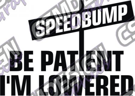 BE PATIENT IM LOWERED