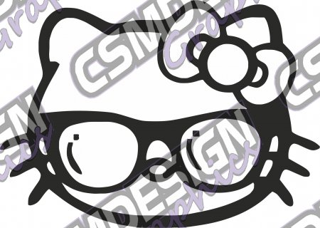 Hello Kitty Shades Girly Sticker